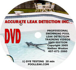 Swimming pool leak detection training manual dvd